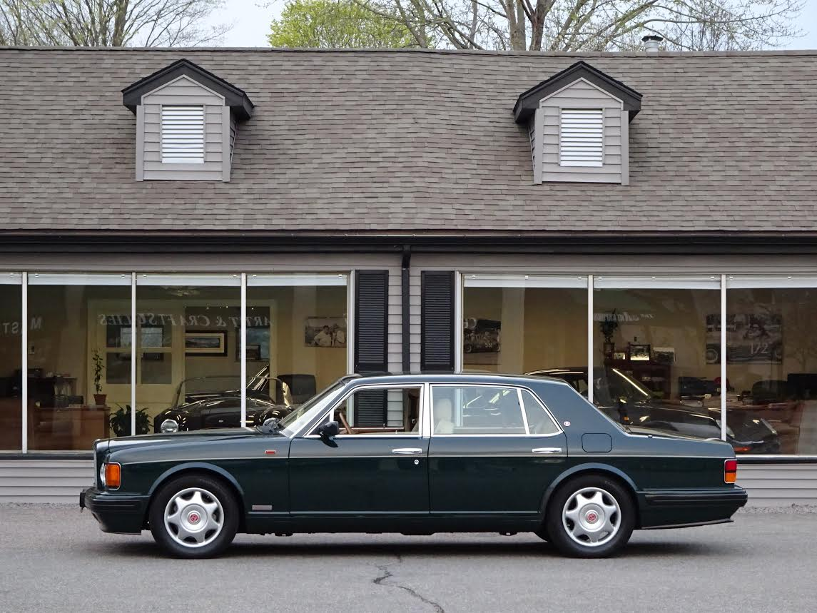 1997 bentley turbo r lwb long wheel base s n scbzp14c7vcx59475 racing green with sandstone hides piped in spruce green tan rugs 6 75 litre v8 turbo